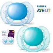 Chupeta Ultra Soft - Cores Variadas - 02 Unidades - 0 à 6 meses - Philips Avent