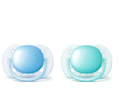 Chupeta Dupla Ultra Soft Lisa 0 a 6 meses Avent