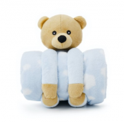 Cobertor e Bichinho de Pelúcia -3m+ - Loani Presentes