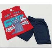 Conjunto Verão - Camisa Regata E Shorts - 02 Peças - 2 Anos - Fashion Kids