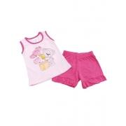 Conjunto Verão Ursinho Love - Camiseta E Shorts - 02 Peças - 2 à 3 Anos - Fashion Kids