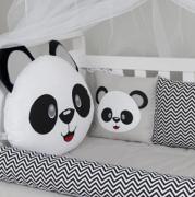 Kit De Berço Padrão Americano - 11 pçs - Panda Azul - Tiquinho Baby