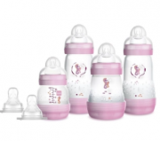 Kit Mamadeiras Easy Start Gift Set - Anticólica 04 Unidades - 130ML + 160ML + 260ML - 0 Meses - MAM