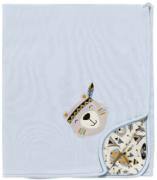 Manta Bosque Azul - 90cm x 70cm - Suedine 100% Algodão - Hug