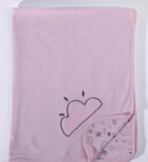 Manta Névoa Rosa - 90cm x 70cm - Suedine 100% Algodão - Hug