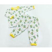 Pijama Estampado - Blusa Manga Longa e Calça - 02 Peças - 100% Algodão