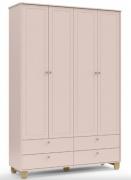 Roupeiro Zupy - 4 Portas -Cores com Natural - MDF - Matic