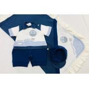 Saída de Maternidade Balão Azul - Pipoquinhas