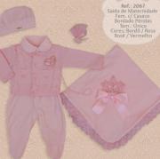Saída de Maternidade - Bordado com Perólas - Djiele  05 Peças