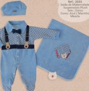 Saída de Maternidade - Suspensório Plush - Djiele  03 Peças