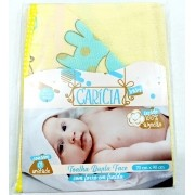 Toalha de Banho Felpuda Bordada - Dupla Face e Forro de Fralda C/ Capuz  - 100% Algodão - 90cm x 70cm - Carícia Baby