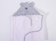 Toalha de Banho Nuvens de Algodão  - Com Capuz - Bordado Protegido - 100% Algodão   85cm x  140cm- Hug