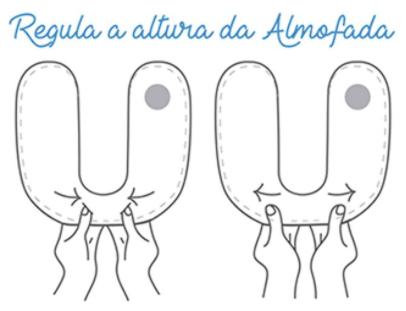 ALMOFADA DE PESCOÇO 25cm X 24cm - PAPI BABY