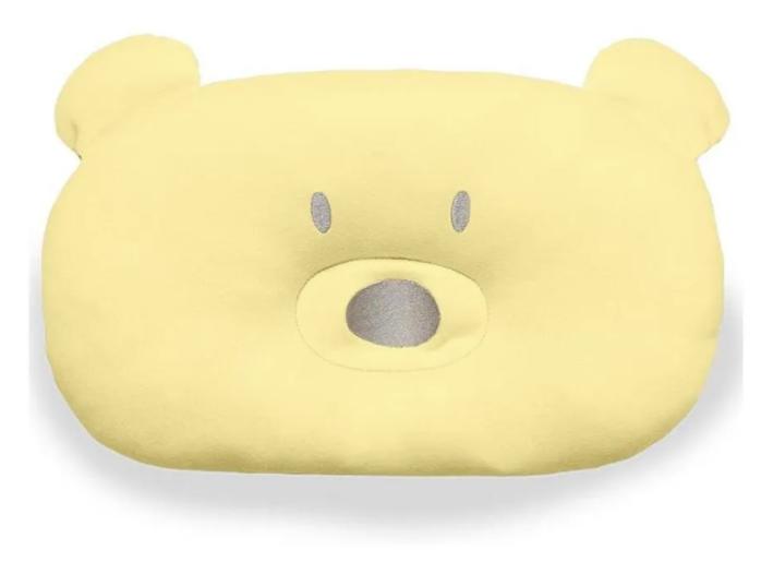 Almofada Urso - Amarelo - Bordado Protegido - 33cm x 22cm - Suedine 100% Algodão - Hug