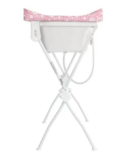 Banheira Bebê Floripa Rosa Com Trocador Tutti Baby