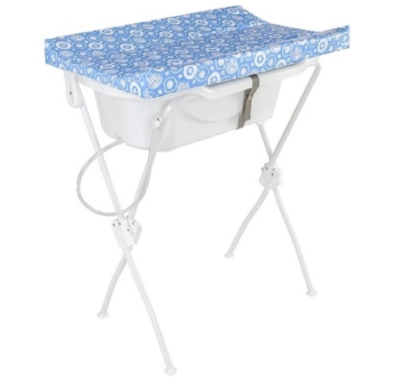 Banheira para Bebê com Trocador Floripa - Azul - Tutti Baby