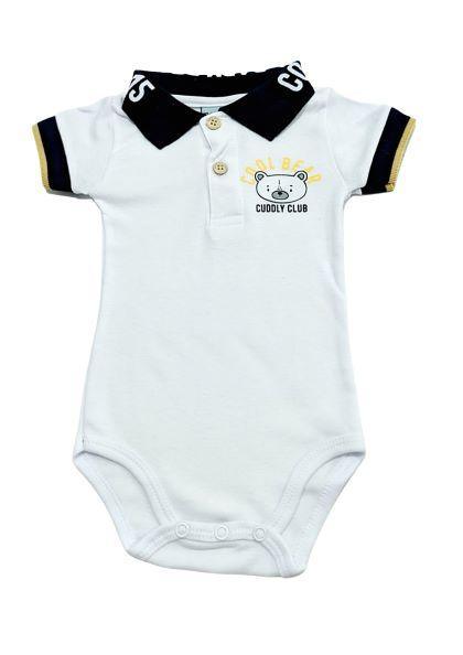 Body Baby Bear - Gola Polo Branco - Pulla Bulla