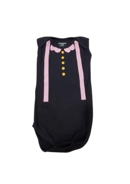 Body Black Pink - Estampado - 0 à 7 meses - Suedine 100% Algodão - Família Kids