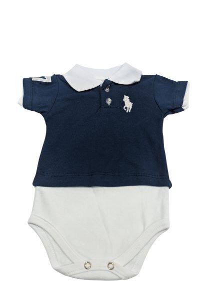 Body - Gola Polo - 4 à 6 meses - 100% Algodão - Yala Baby