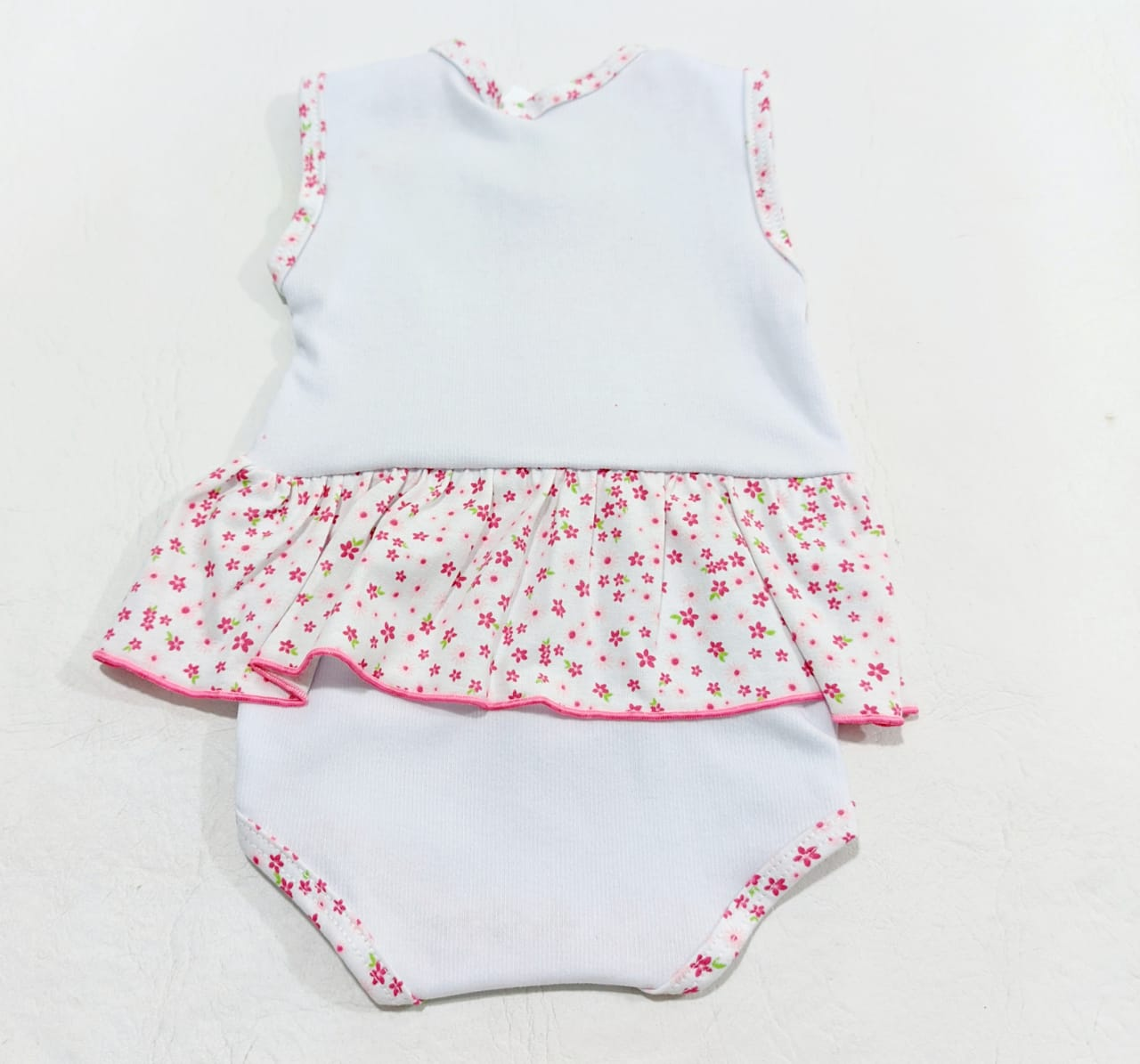 Body Bordado Com Saia Estampado - 01 Peça - 100% algodão - Baby amore