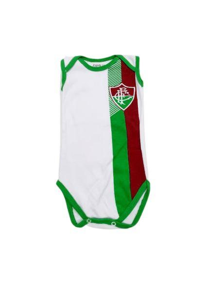 Body Fluminense - Estampado - 0 à 7 meses - Suedine 100% Algodão - Família Kids