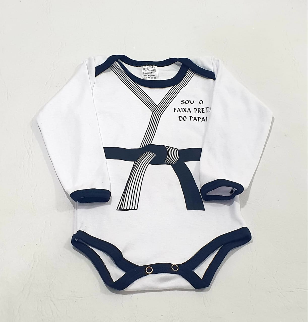 Body Manga Longa Estampado - 01 Peça - 100% Algodão Suedine - Yala Baby