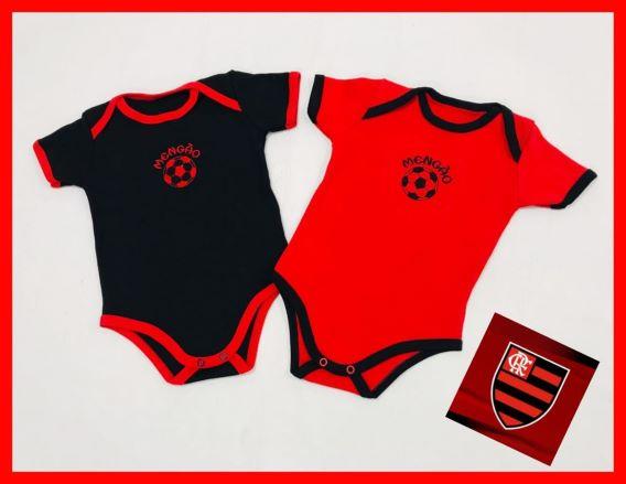 Body Flamengo Meia Manga - 01 Peça - 100% Algodão Suedine