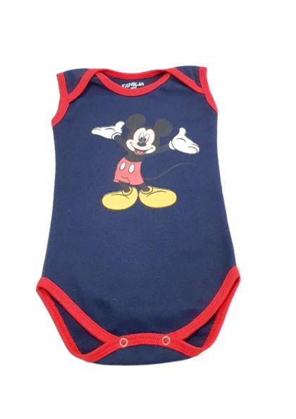 Body Mickey Mouse - Estampado - 0 à 7 meses - Suedine 100% Algodão - Família Kids