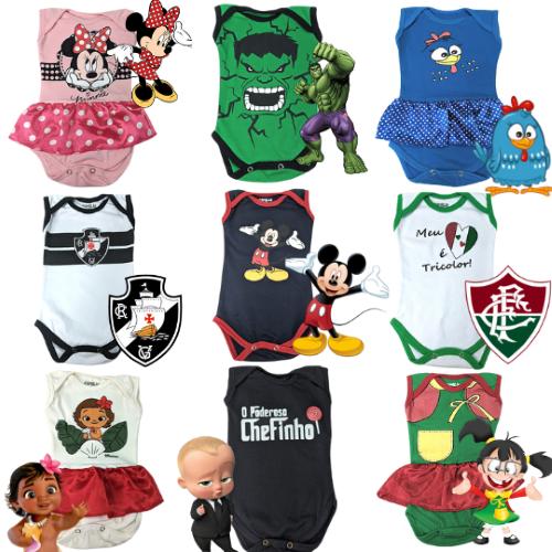 Body Regata Bebê Temático Mesversário - Família Kids