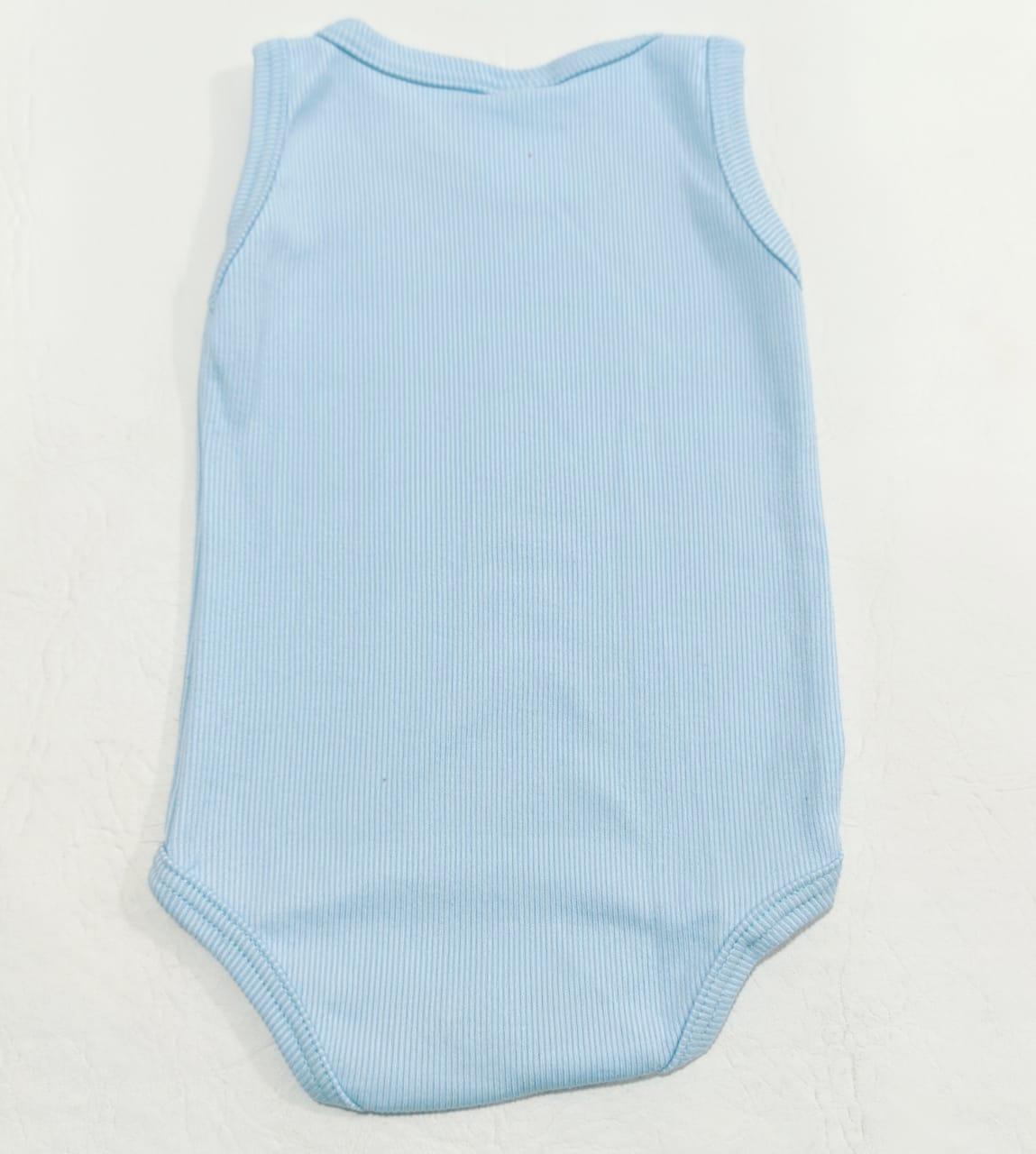 Body Regata - Cores Diversas - 0 à 3 meses - Em Algodão - Yala Baby