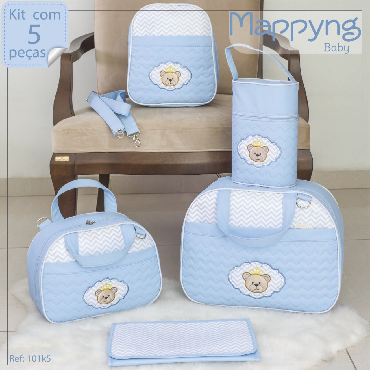 Bolsa Maternidade 5 Peças - Mappying Baby