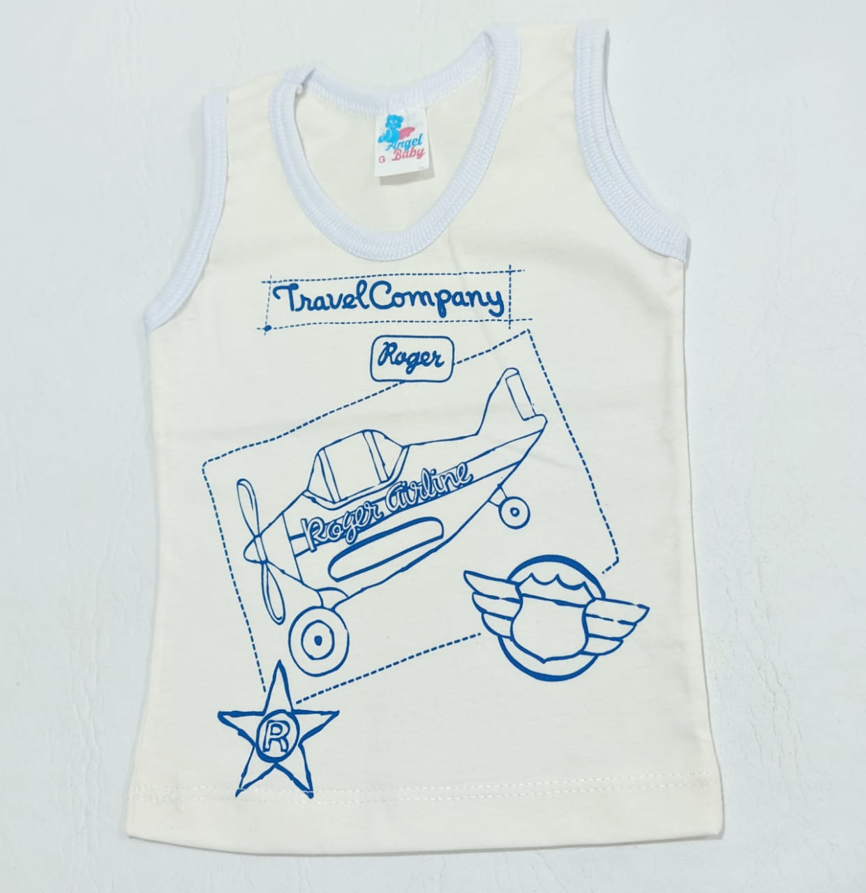 Camiseta Regata Estampada - 01 Peça - 100% Algodão - Angel Baby