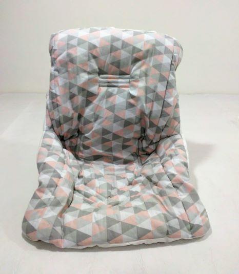 Capa Bebê Conforto C/ Elástico Estampada e Acolchoada - 90cm X 60cm - Joaninha Feliz