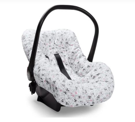 Capa de bebê conforto - Festa dos Bichos - 58cm x 84cm Suedine 100% Algodão