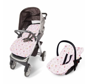 Capa para Bebê Conforto e Carrinho - Acolchoada - Estampada 90cm X 55cm Contem 01 Un - Papi