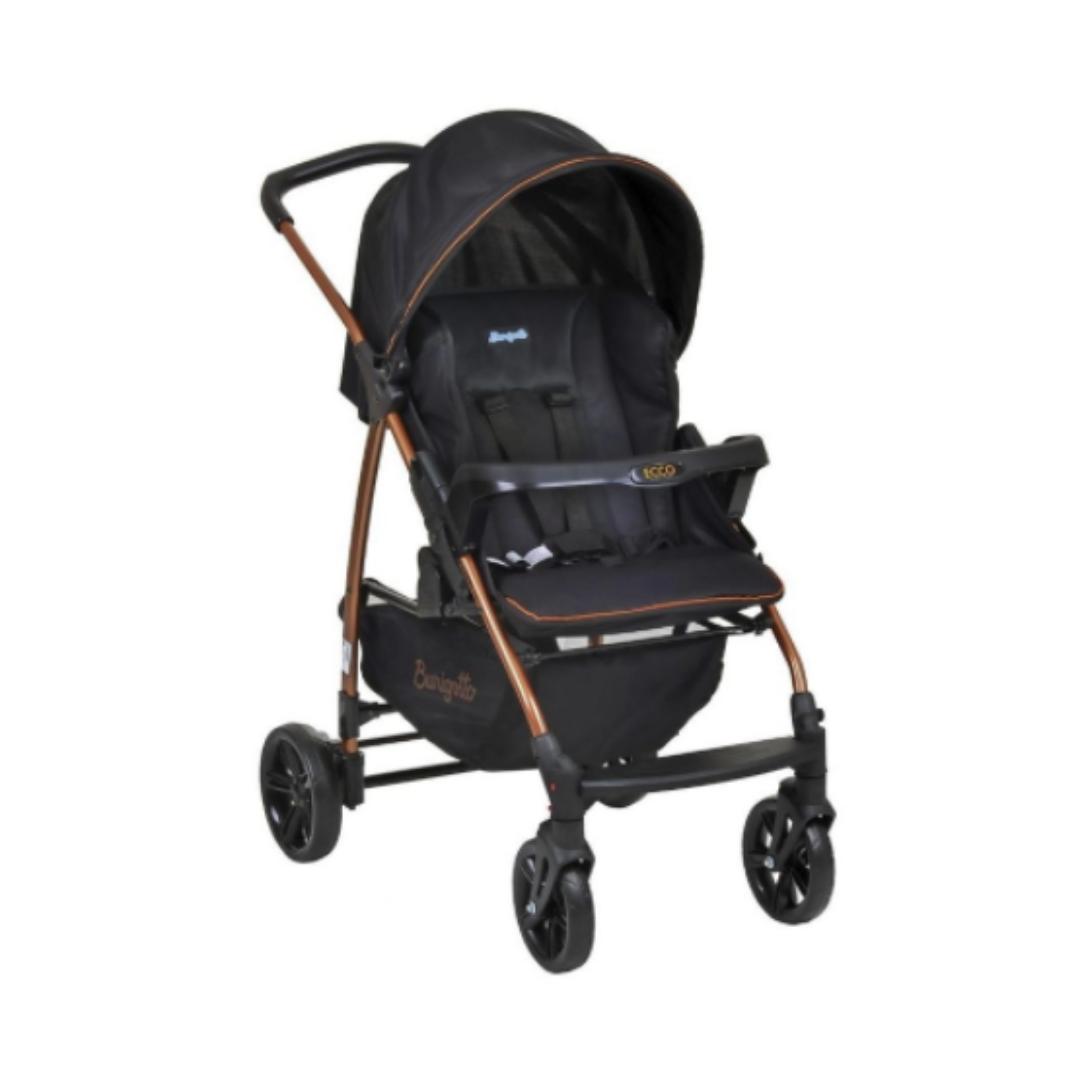 Carrinho De Bebê Travel System Ecco Burigotto - Preto Cobre