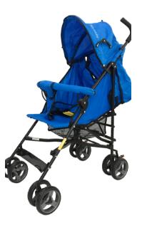 Carrinho Guarda Chuva - Azul - My Baby