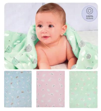 Cobertor de Microfibra 1,10m X 85cm - Papi Baby
