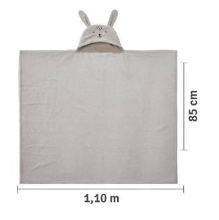 Cobertor De Microfibra - 1,10m X 85 cm -  Com Capuz Bordado - Mami Bichuus