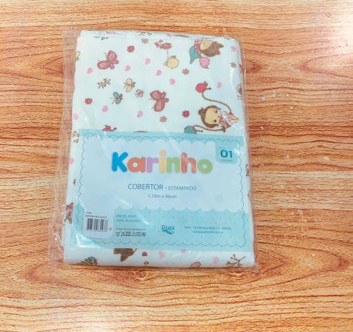 Cobertor Estampado - 1,10m X 90cm - Karinho