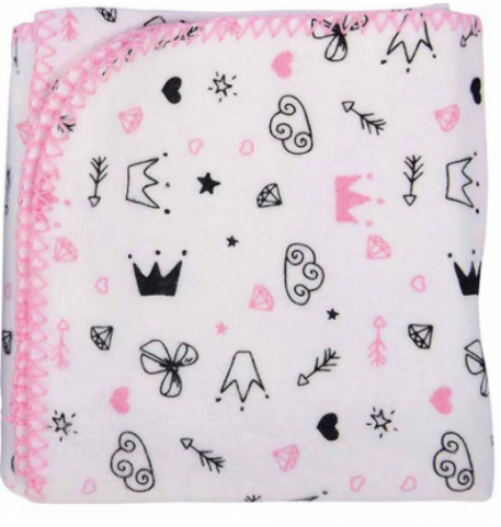 Cobertor Estampado - 70cm X 90cm - 100% Algodão - Reininho Encantado