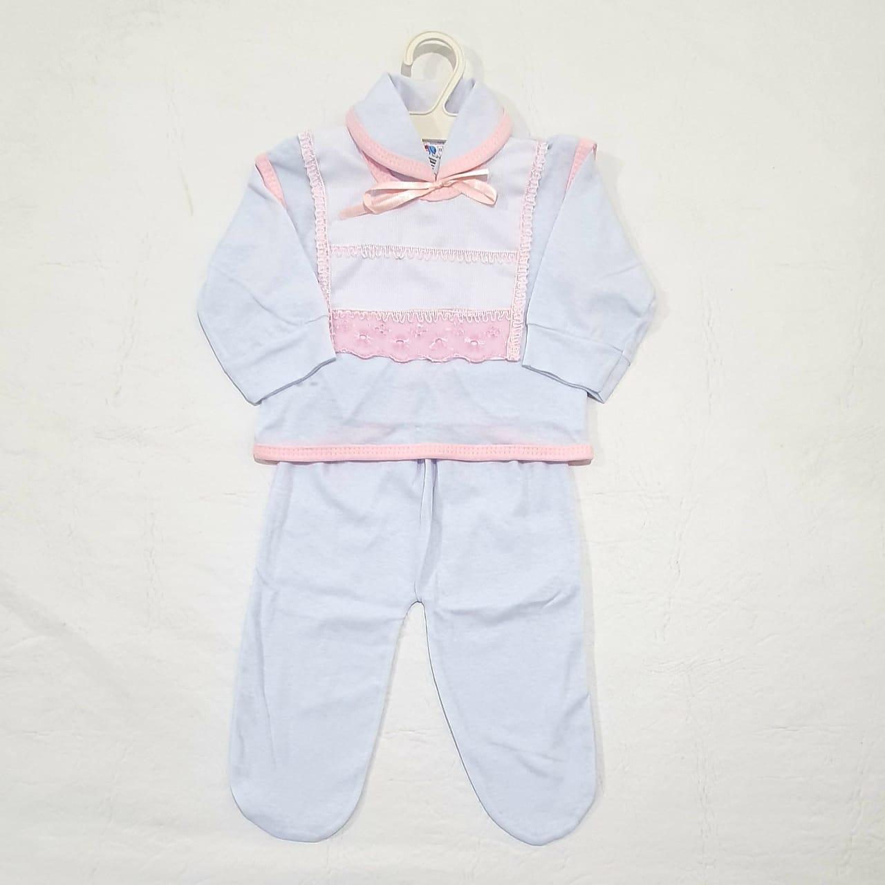 Conjunto Pagão Bordado - Camiseta Colete e Mijão- 03 Peças - 100% algodão - Radani Little Baby