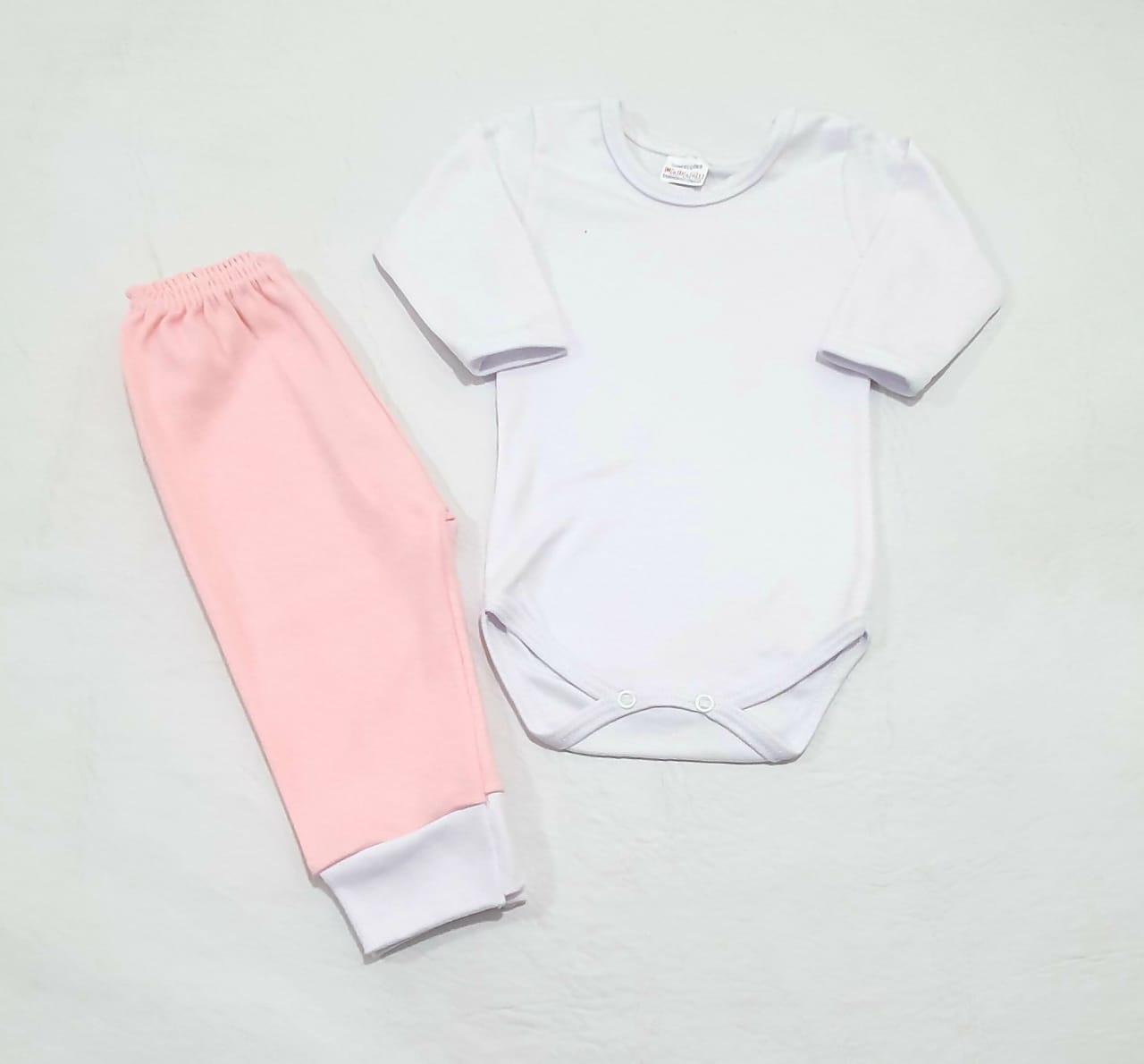 Conjunto Pagão - Camiseta Colete e Mijão - 03 Peças - 100% Algodão - Radani Little Baby