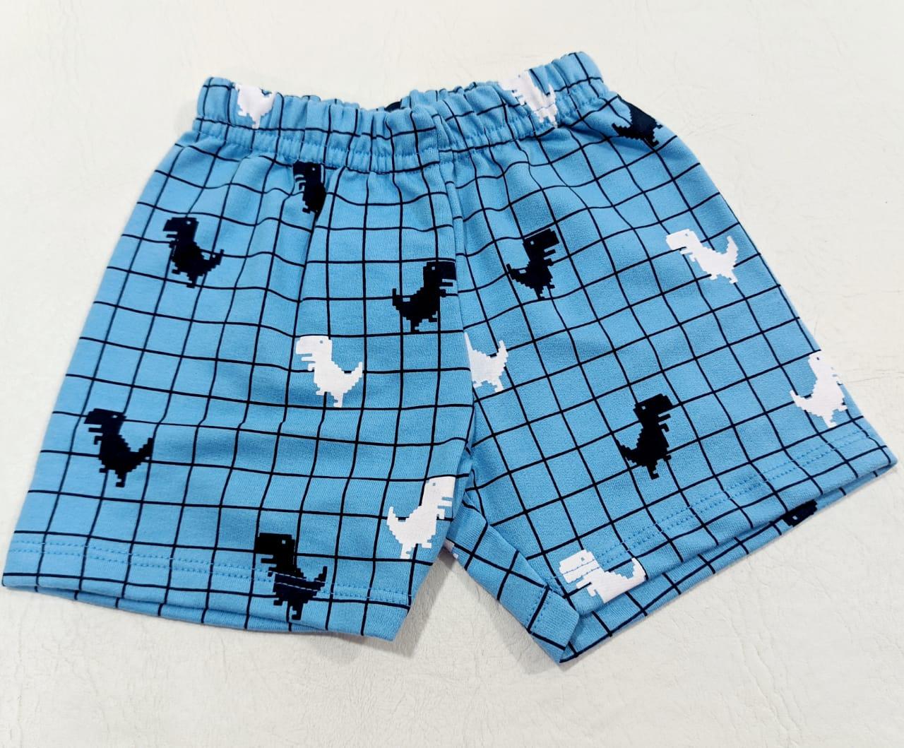 Conjunto Body Bordado E Shorts - Body e Shorts - 02 Peças - 100% Algodão - Pulla Bulla