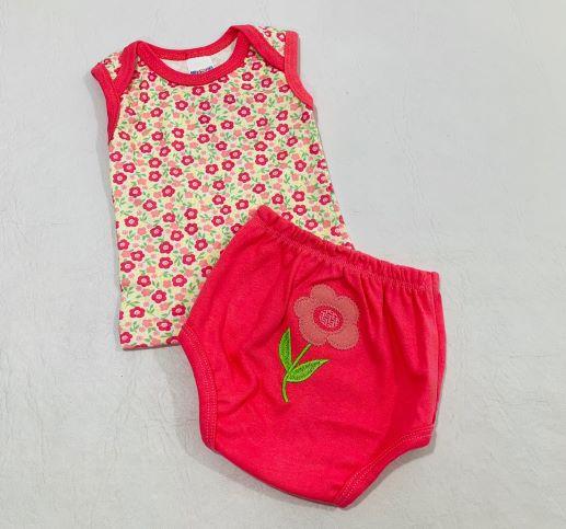 Conjunto Estampado - Camiseta Regata e Tapa Fralda - Gente miúda