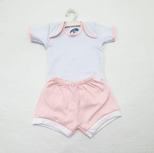 Conjunto Pagão Poá C/ Bandana - Tam P - 03 peças - Radani Little Baby