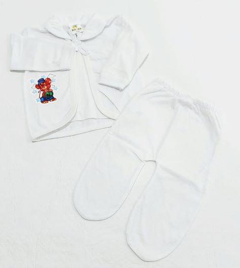 Conjunto Pagão Estampado - Camiseta, Casaquinho e Mijão - 03 Peças - 100% Algodão - Gente Miúda