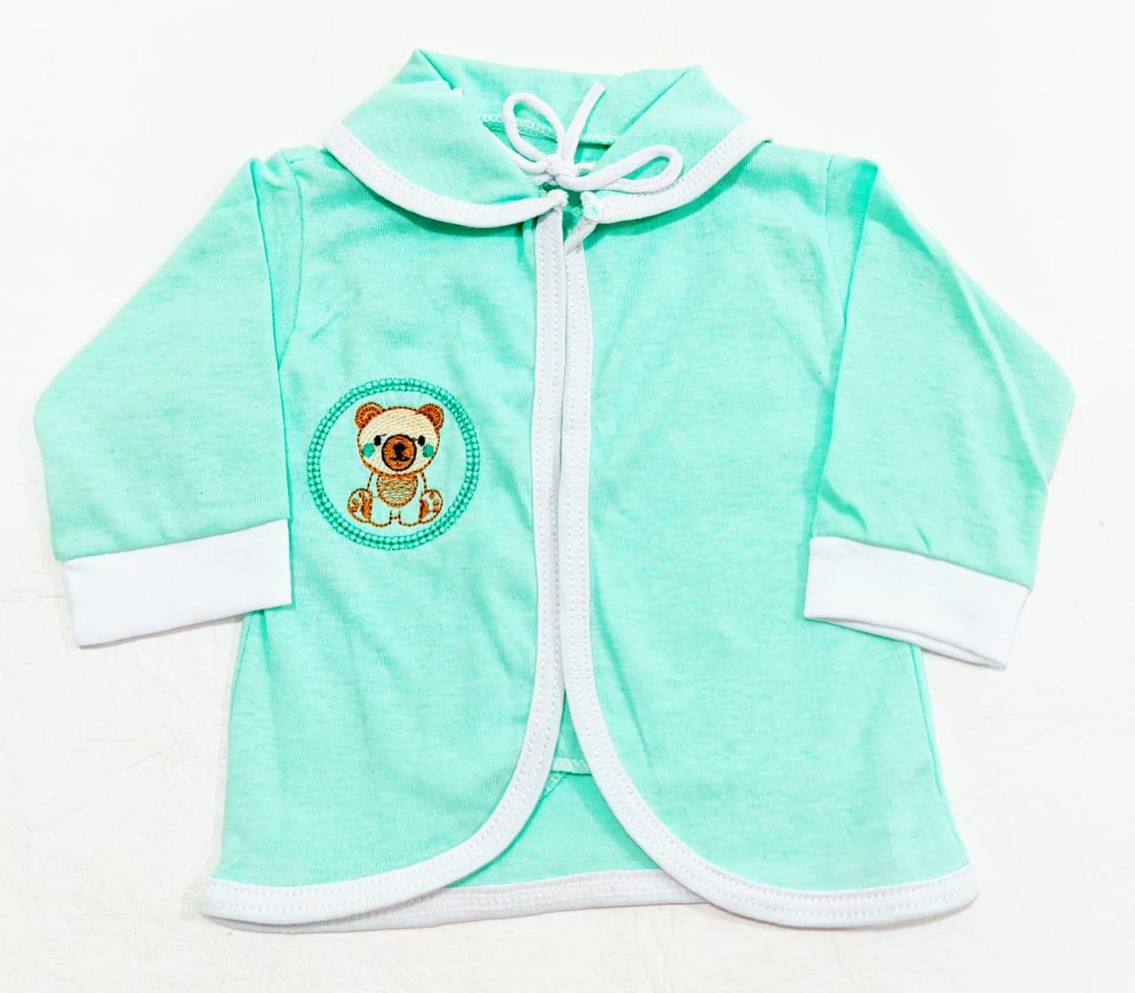 Conjunto Pagão Verde - Camiseta, Casaquinho e Mijão - 03 Peças - Recém Nascido - 100% Algodão - Cia do Bebê