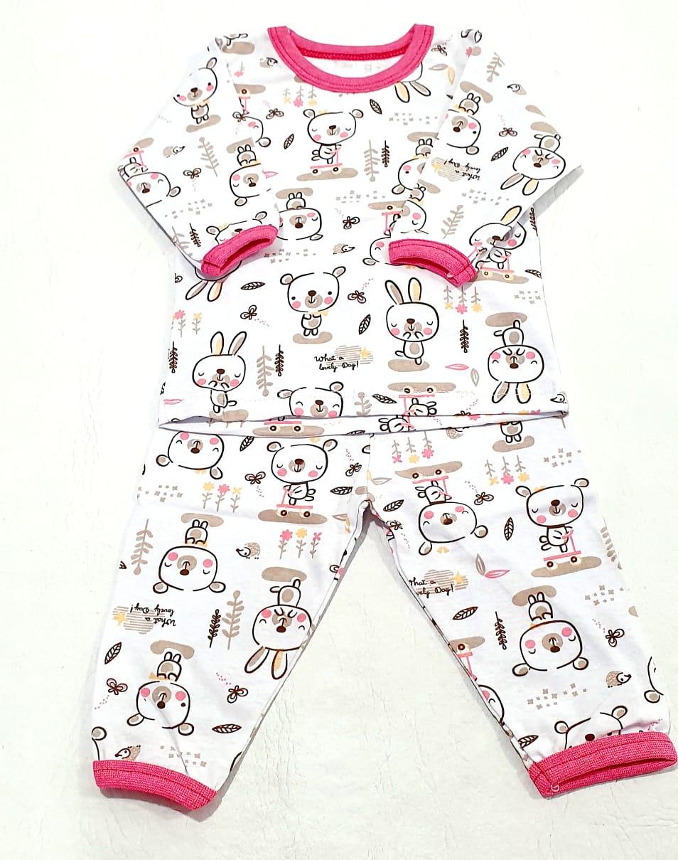 Conjunto Pijama 2 Peças Estampado 100% Algodão