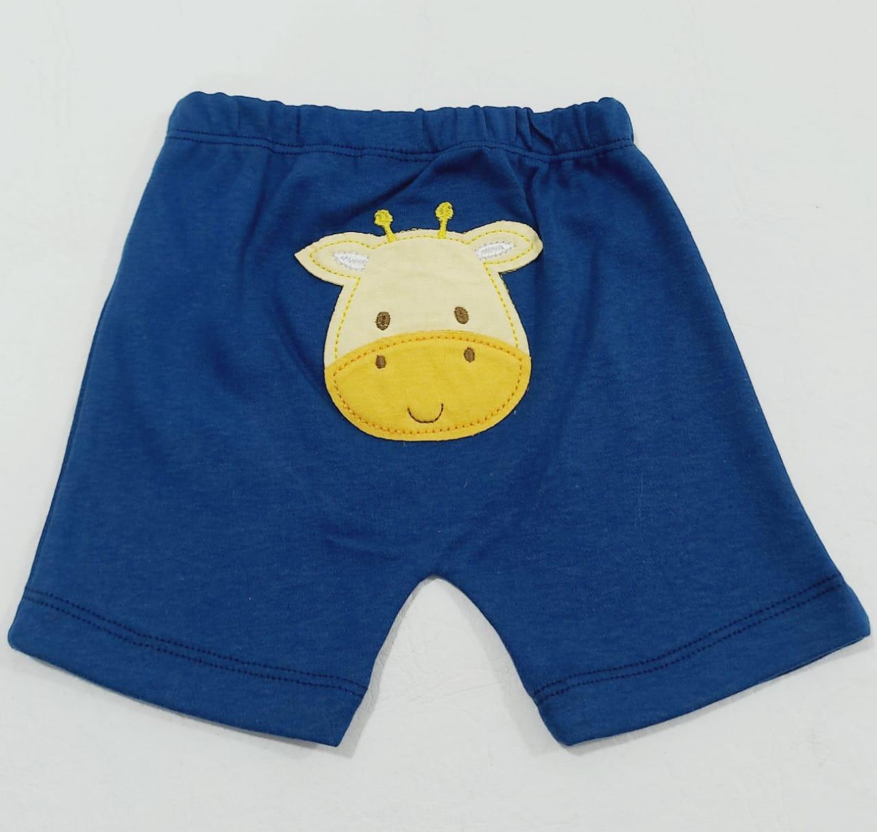Conjunto Safari - Body Meia Manga E Shorts - 02 Peças - 2 à 10 meses - 100% Algodão - Curioso